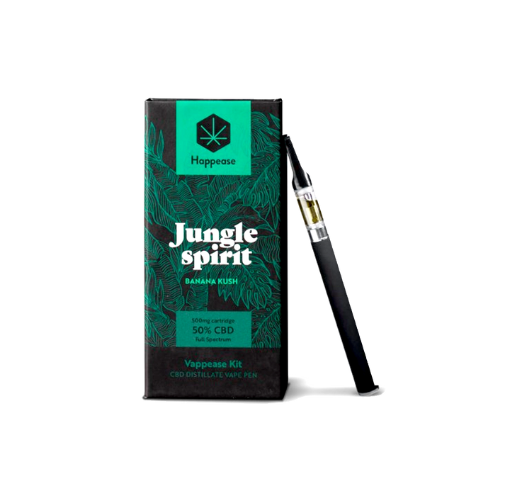 50% CBD Vaping Pen Kit -Jungle Spirit (Banana Kush)