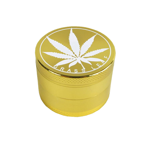 Grass Leaf Gold Grinder - 3 Teilig