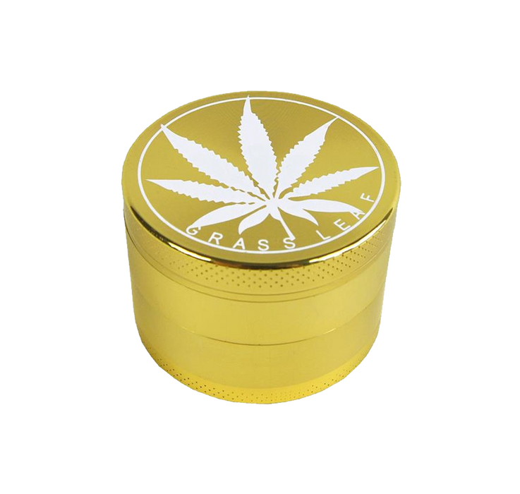 Grass Leaf Gold Grinder - 4 Teilig