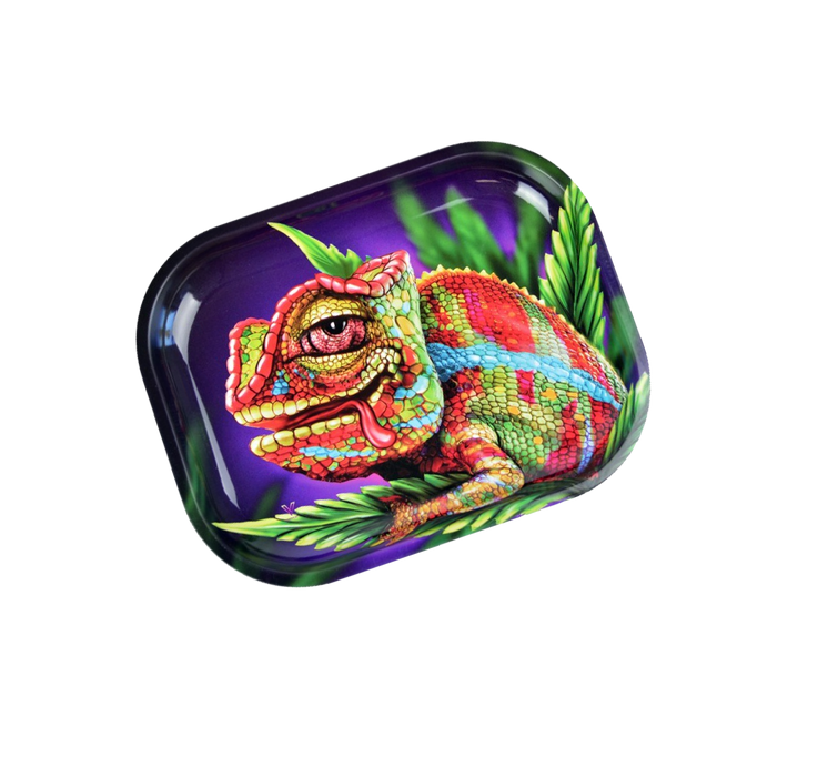 Stoned Chameleon- Rolling Tray Small (18x14)