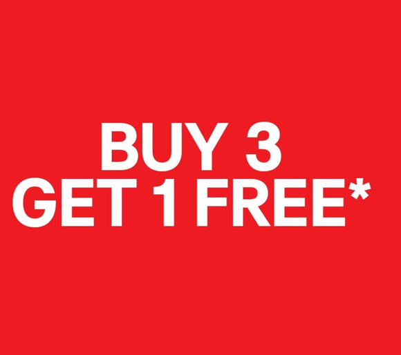 BUY 3 ITEMS GET 1 FOR FREE