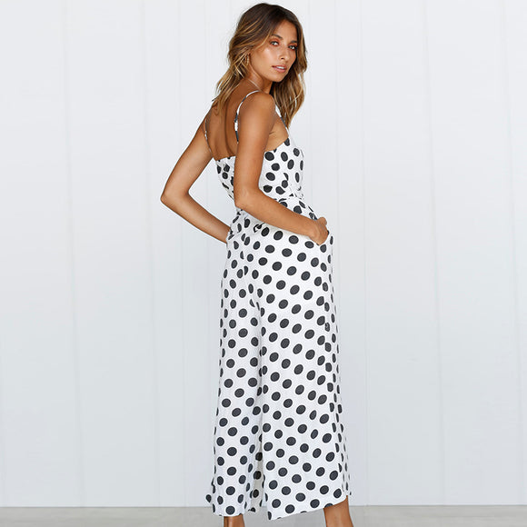 Polka Dot Camisole Jumpsuit