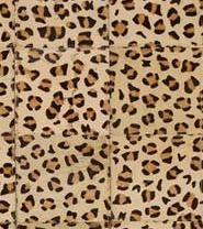 Leather Patchwork Rug (Leopard)