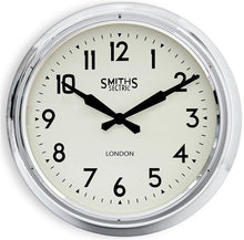 large 60 cm chrome roger lascelles clock