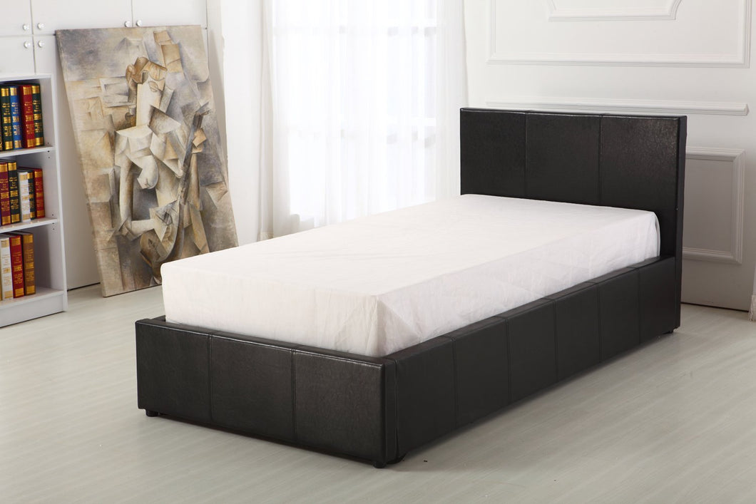 Faux Leather Ottoman Storage Bed ( 3ft Single)
