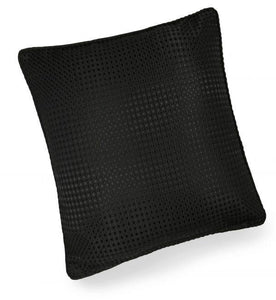 textured cushion collection black