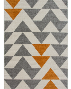 ginger and grey contemporary rug main image
