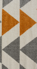 ginger and grey contemporary rug close up