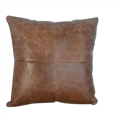 Buffalo Hide Leather Cushion