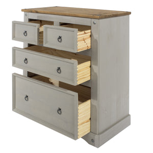 2 + 2 grey washed cabinet dovetail
