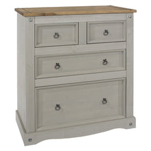 2 + 2 grey washed cabinet angled