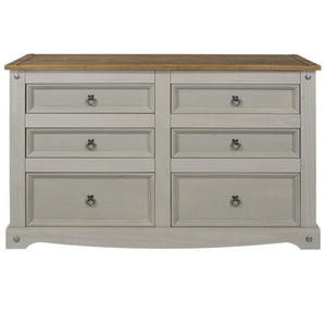 grey corona 3+3 chest of drawers