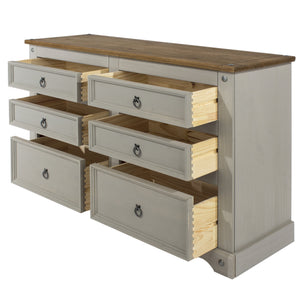 grey corona 3+3 chest of drawers dovetail