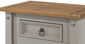 grey wooden table drawer