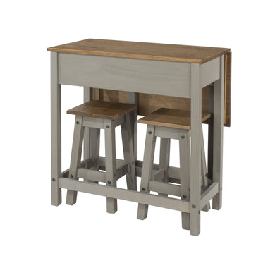grey corona drop leaf table