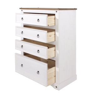 white chest of drawers four drawers dovetail