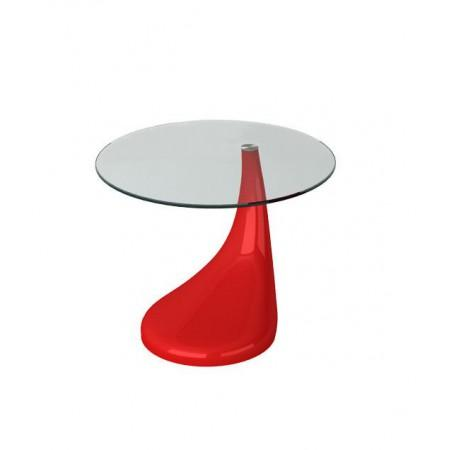 Contemporary High Gloss Glass Side Table