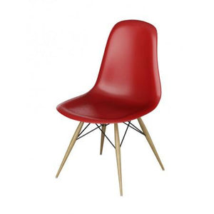 Two Charles Eames Inspired Dining Chairs (Red or White)