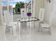 Four Seat Contemporary Dining Set cream
