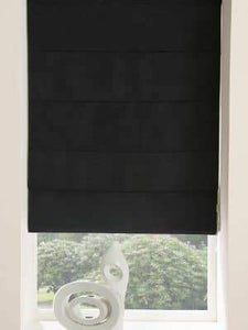 ready made roman blind black