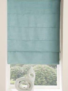 ready made roman blind duck egg blue