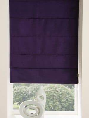 ready made roman blind plum