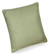 textured cushion collection green