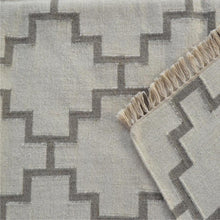 Large Grey Geometric Pattern rug with Tassels