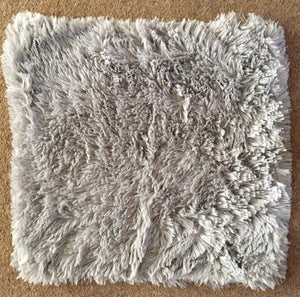 grey fluffy cushion cover
