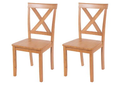 pair of Hamilton wooden dining chairs