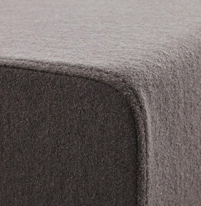 fabric cube stool grey