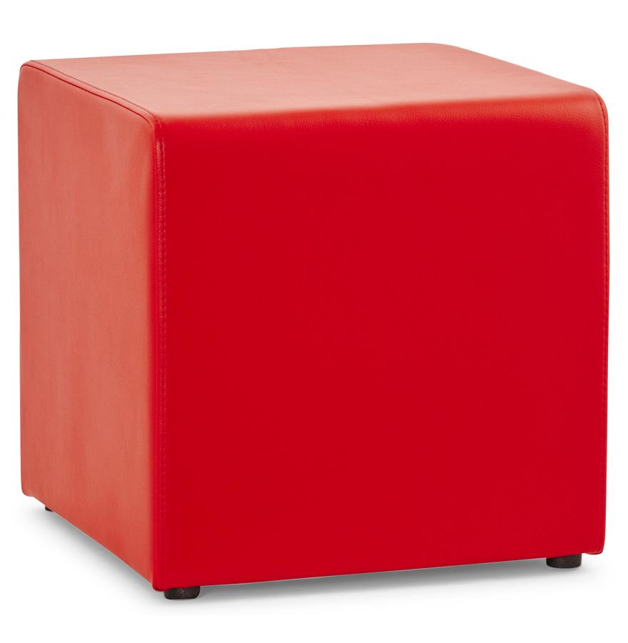 red kokoon seating stool or foot rest