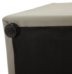 Faux Leather Cube Stool