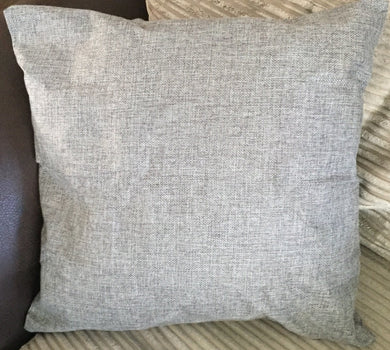 grey linen cushion filled or just cover