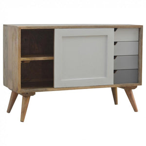 Nordic Sliding Cabinet with 4 Drawers slider open