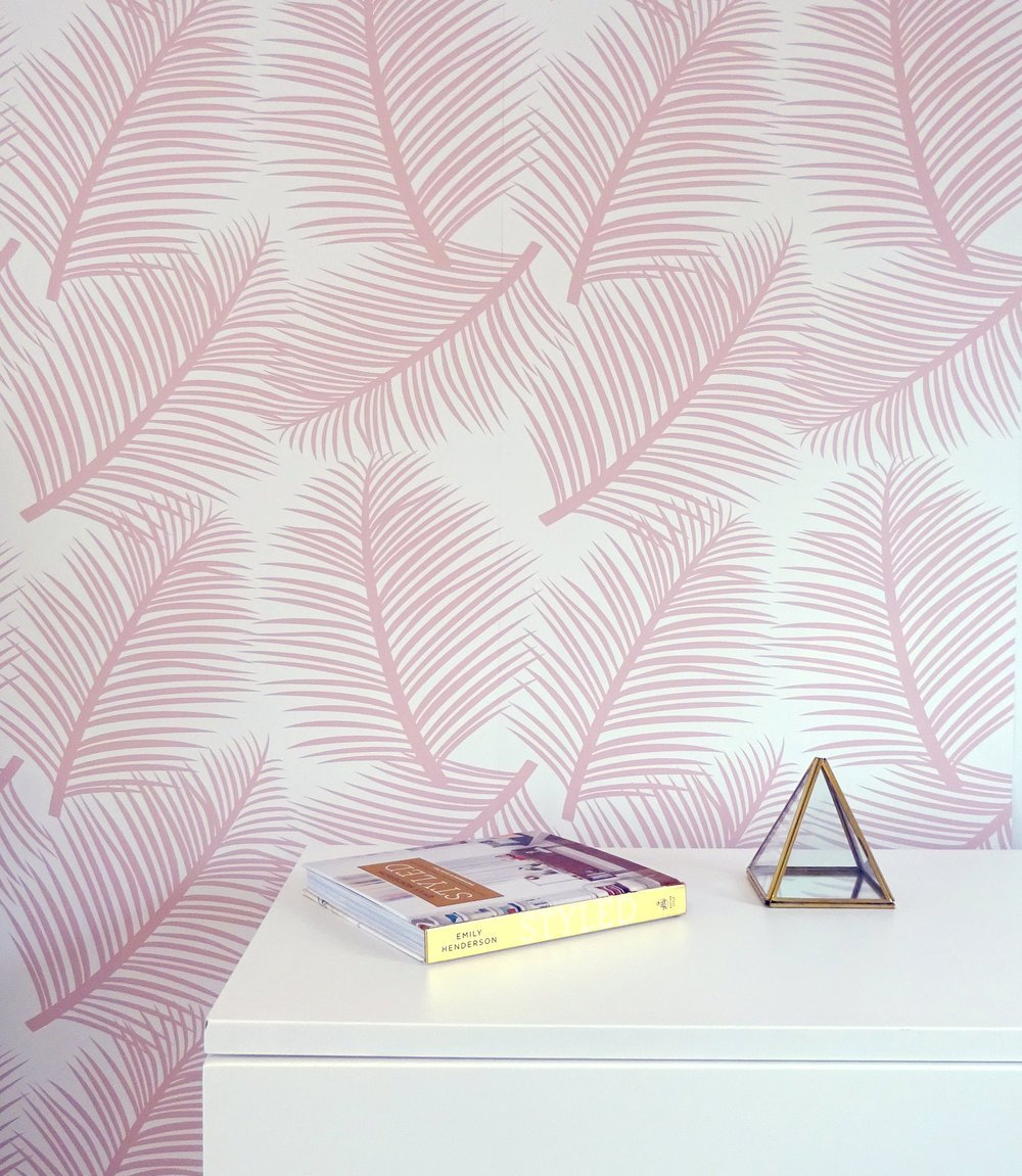 the room alive blush wallpaper