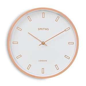 smith clock in rose gold