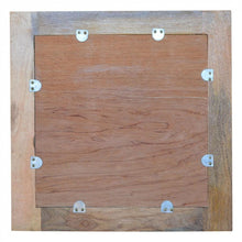 Square Wooden Wall Mirror rear