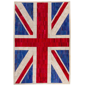 patchwork leather rug union jack