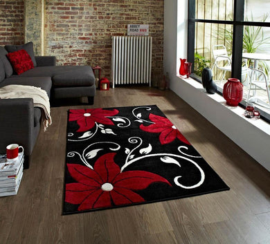 Verona Rug In Red And Black