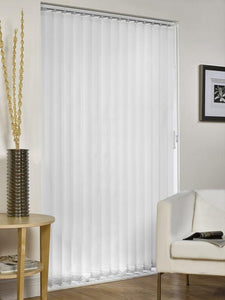 mb vertical blind in white