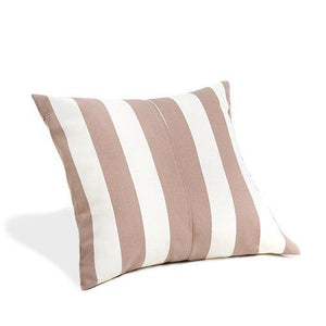 Water Resistant Cushion Beige Stripe