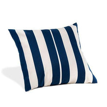 Water Resistant Cushion Blue Stripe