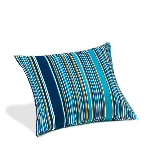 Water Resistant Cushion Multi Stripe Blue