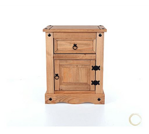 single drawer and door bedside cabinet