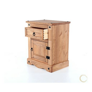 single drawer and door bedside cabinet dovetail