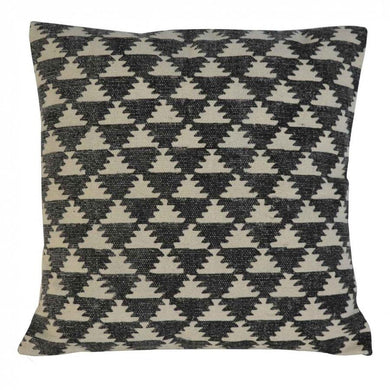 Black & White Diamond Pattern, artisan, black, cushion, hand made, in232, white, uk