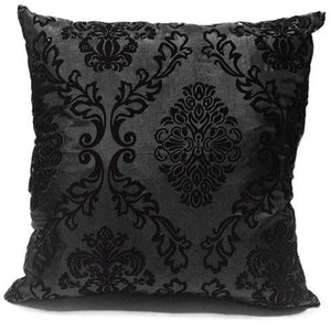 black flock cushion