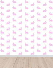 pink bunnies wallpaper plain shot