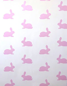 pink bunnies wallpaper close up alternative view